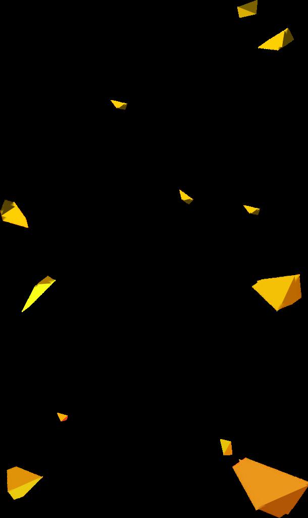 黄色几何漂浮物