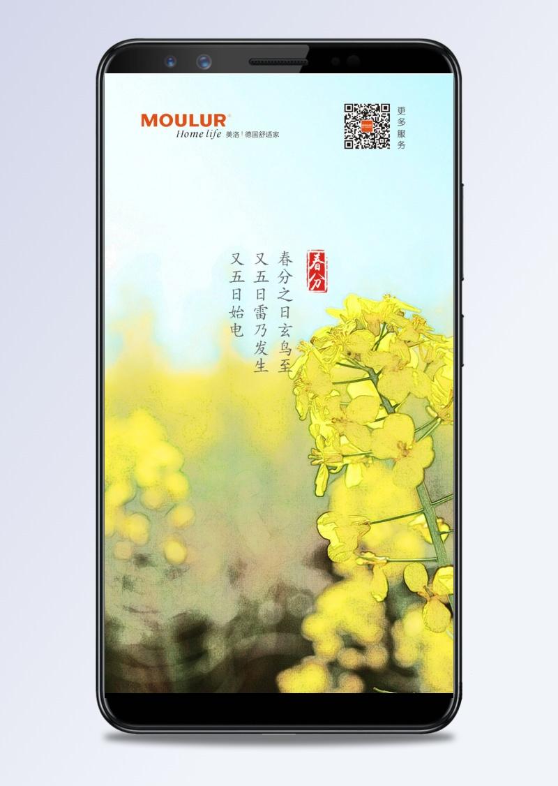 春分手机海报图片设计