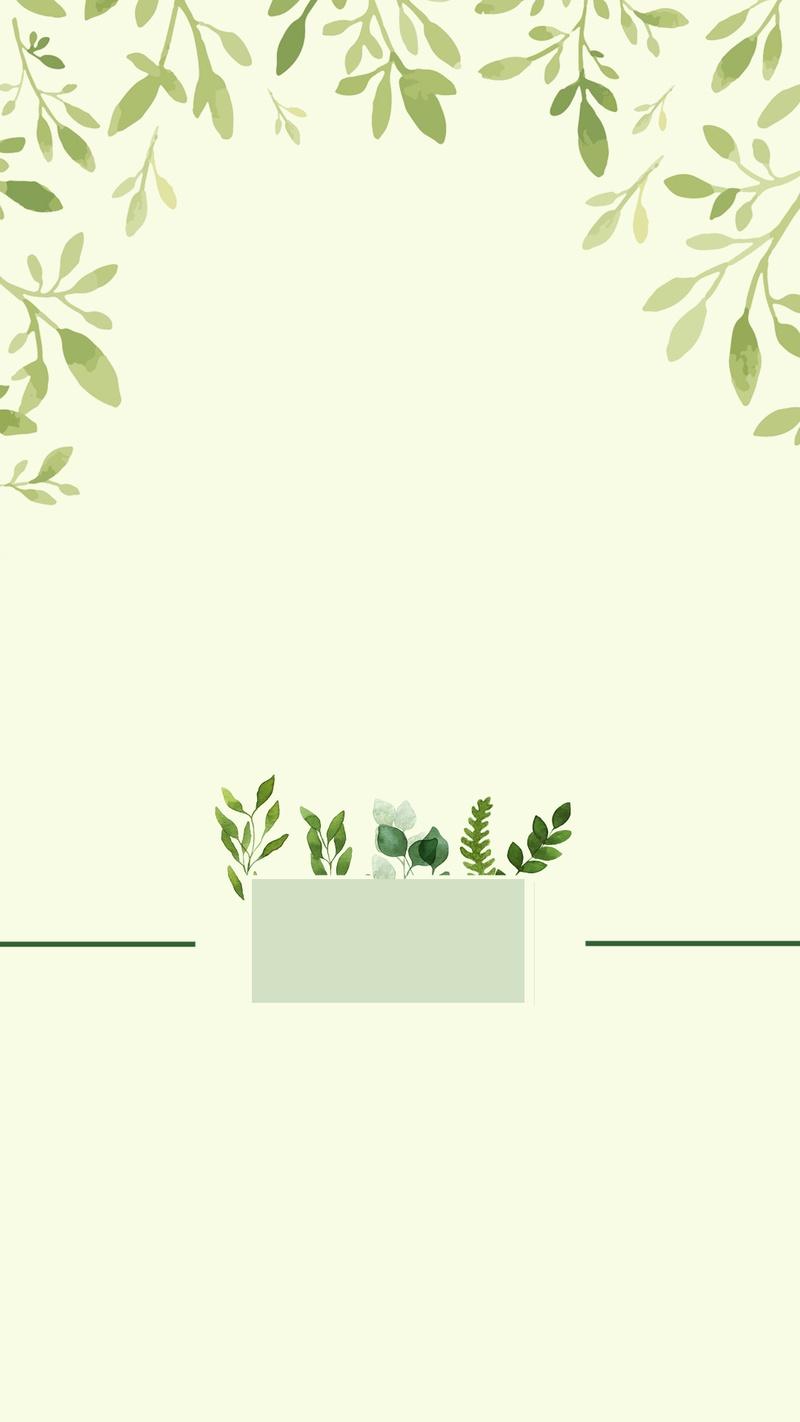 简约小清新绿色框架H5分层背景