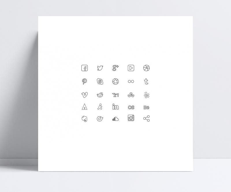 图标UI灰色线条icon素材设计设计模板网页风景区景观设计趋势图片