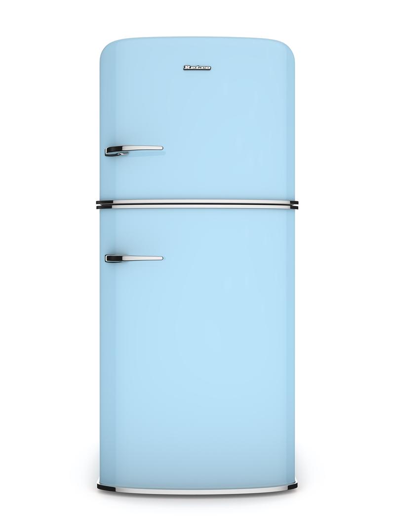蓝色电冰箱