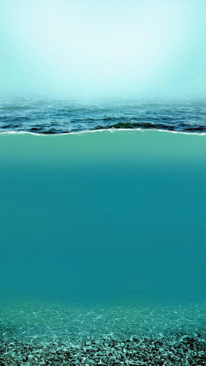 蓝色夏日海岸H5背景