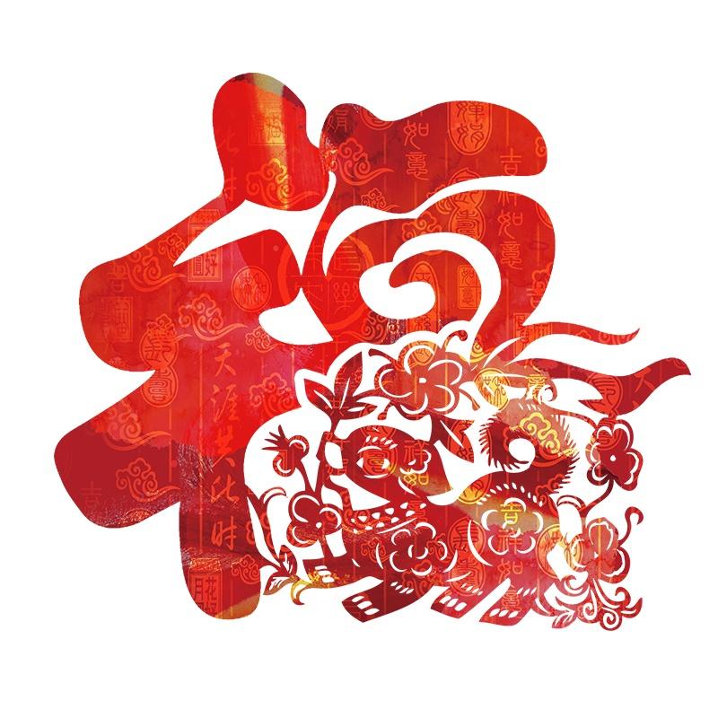创意中国狗年大福字