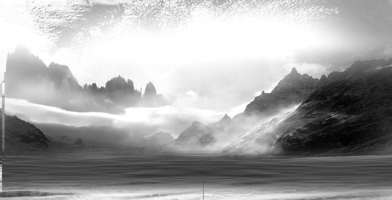 中国风黑白水墨画背景