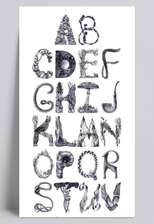 黑白26个英文字母