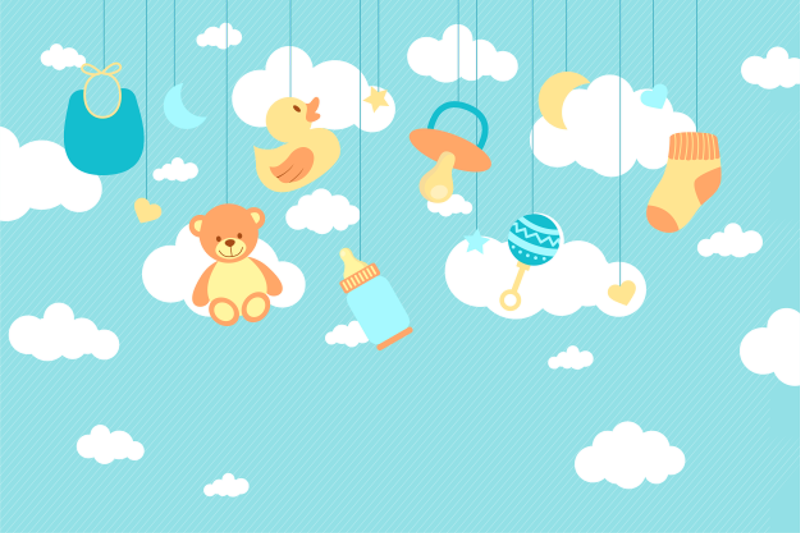 卡通母婴用品广告背景素材