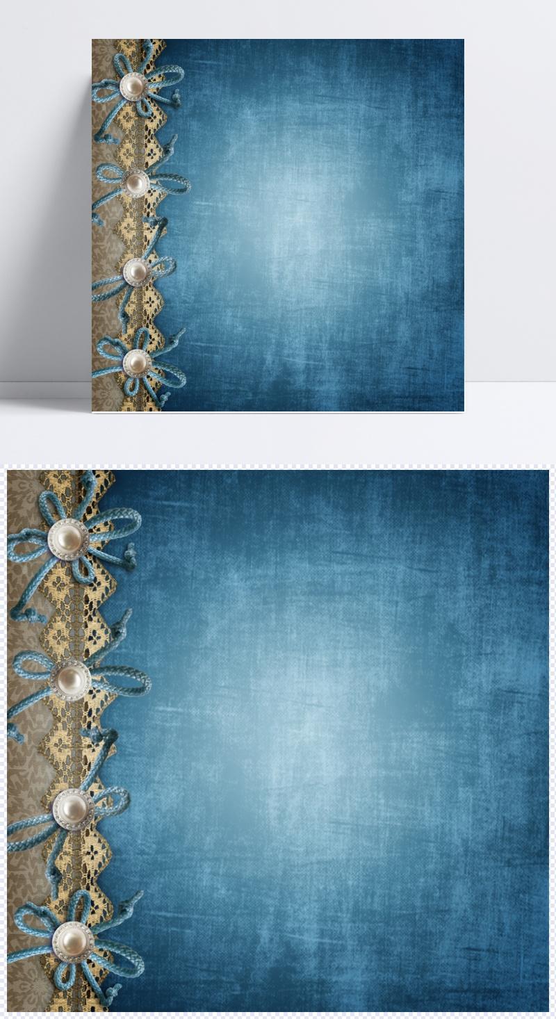 唯美复古蓝色