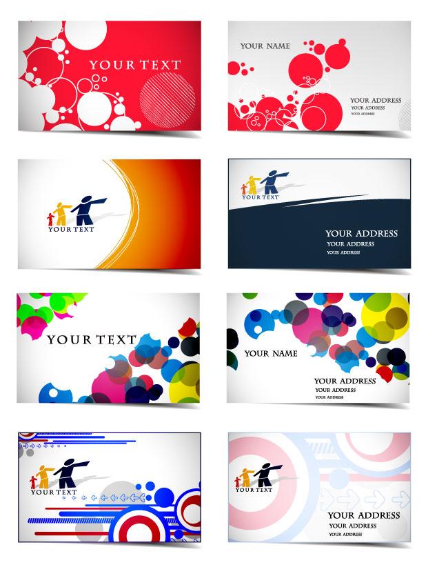 欧美动感流线图案卡片矢量素材
