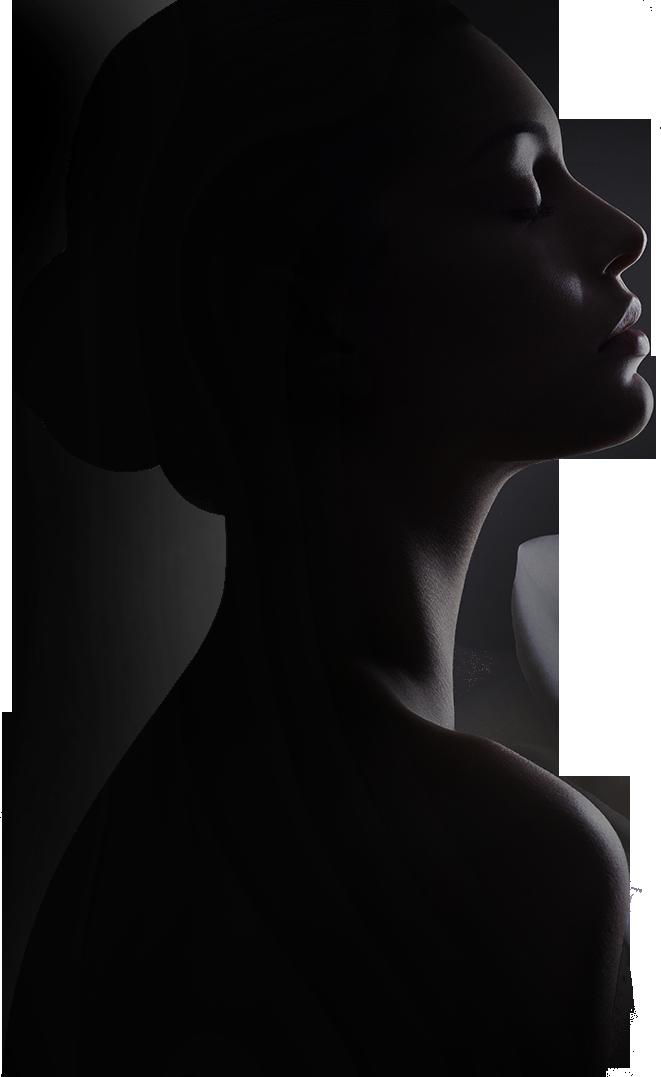 免扣素材 元素 黑色手绘高贵人物侧脸美女  名称