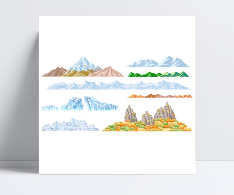 山脊山梁山脉矢量素材eps格式