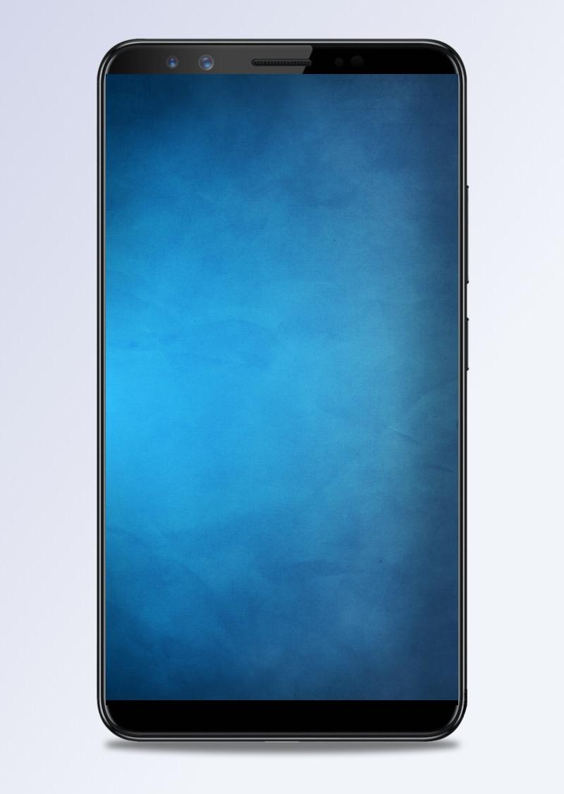 简约纯色蓝色质感H5