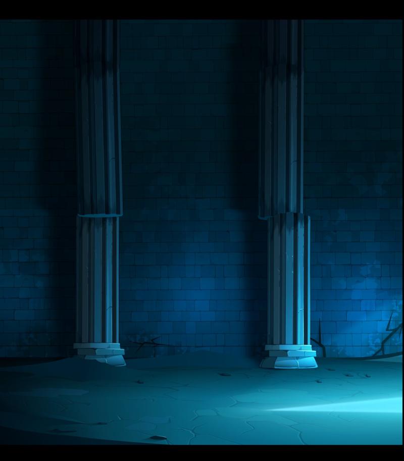 复古墙面蓝色光效高清