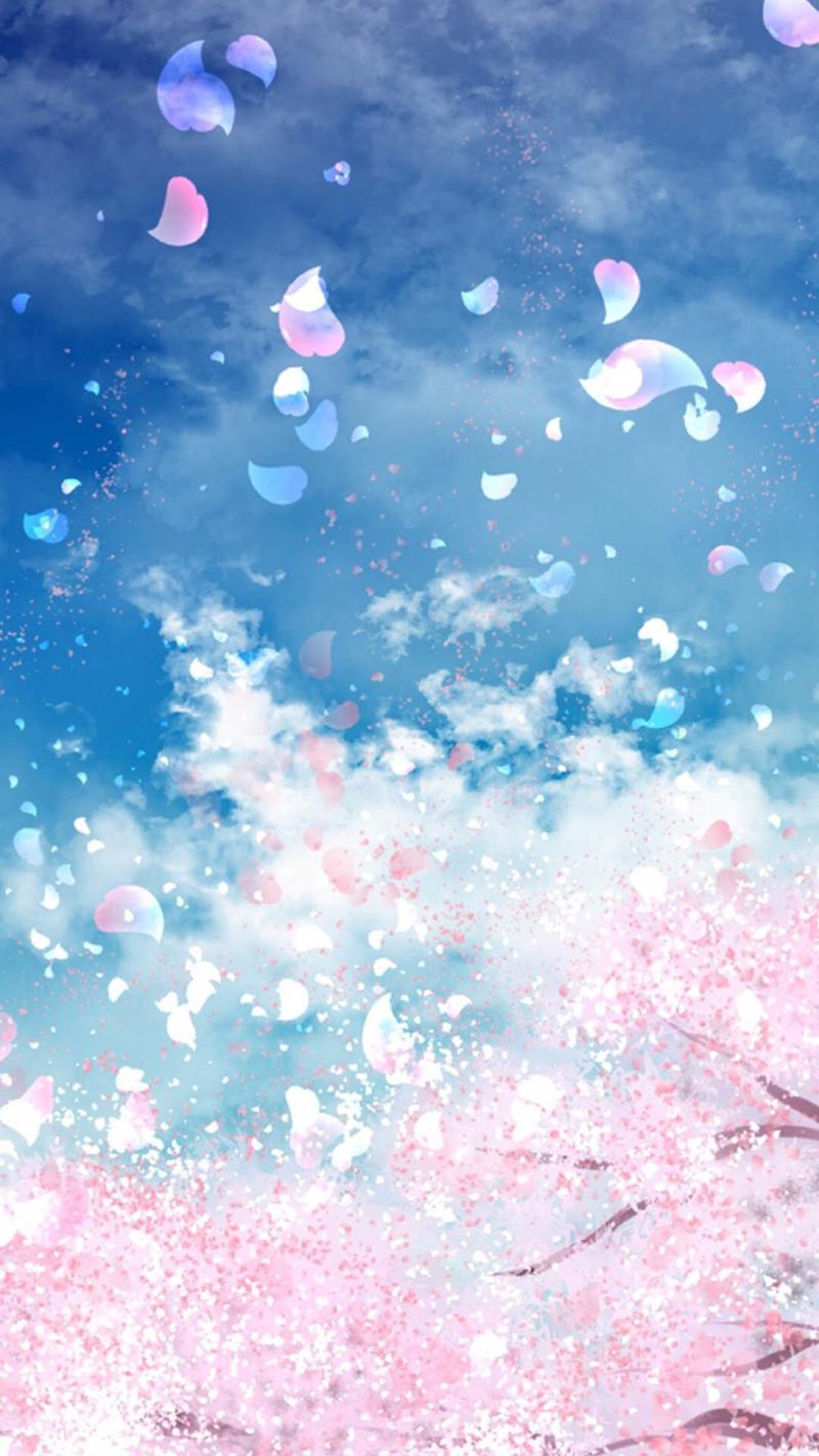 浪漫樱花风景H5背景