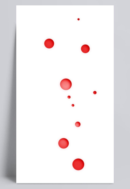 红色彩点漂浮