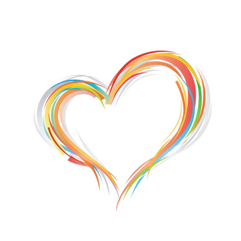 彩色线条爱心