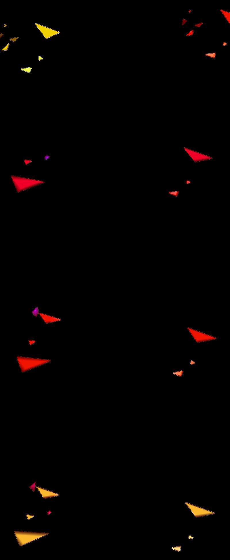 红色简约礼花碎片漂浮素材