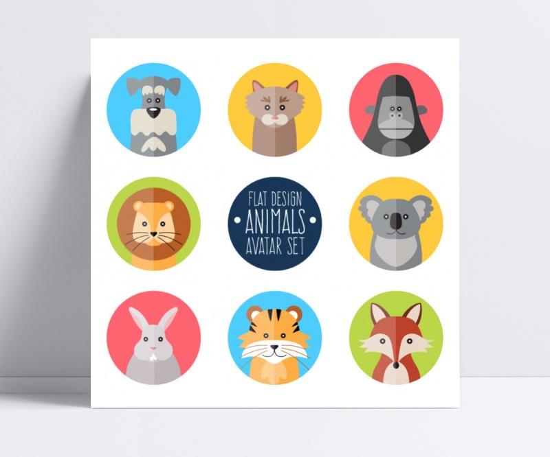 圆形动物模板图标素材设计棒球素材棒矢量设计图片