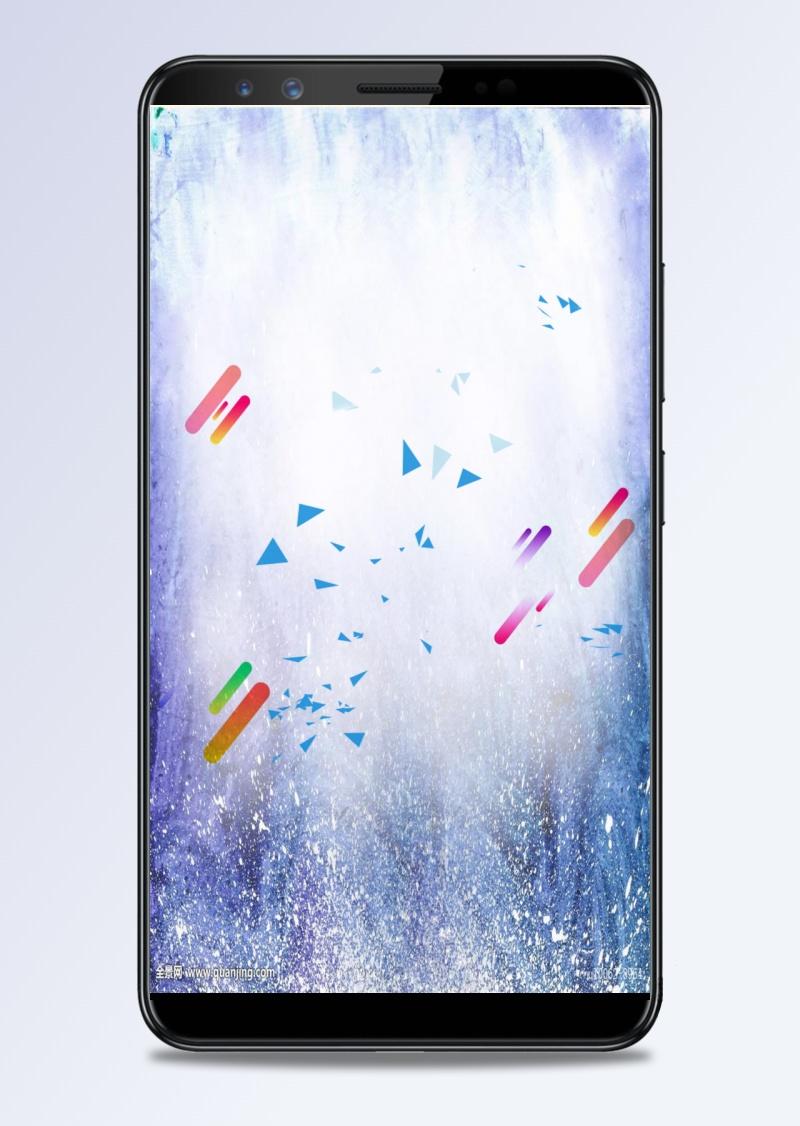 背景簡約藍色廣告海報H5背景