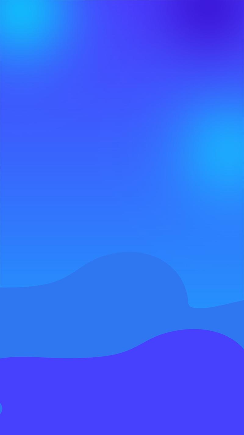 蓝色渐变简约唯美手绘背景