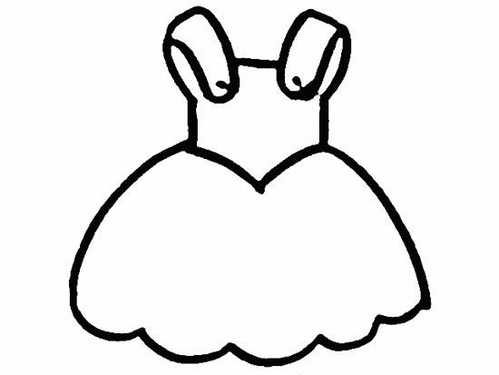 连衣裙简笔画图片