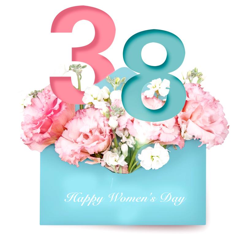 38妇女节玫瑰花海报设计PSD源文件