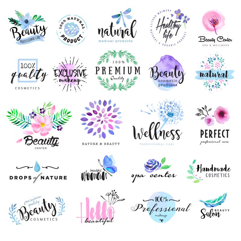 有机化妆品创意logo