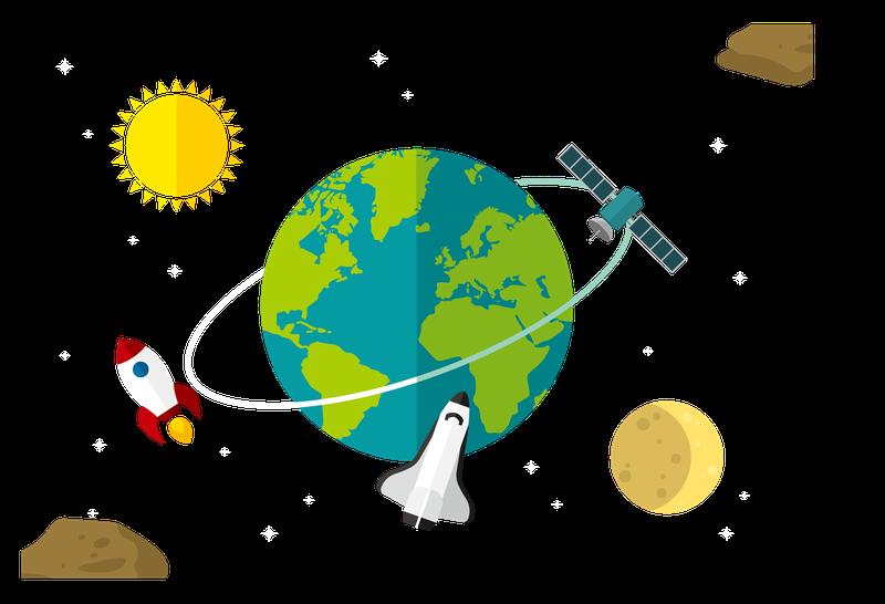 卫星飞行矢量