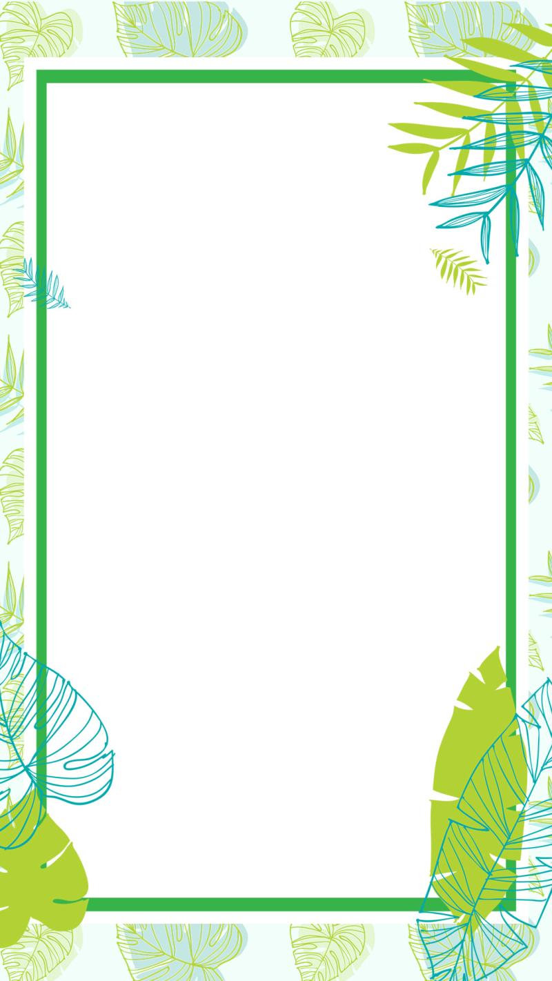 绿色夏季促销上新PSD分层H5背景素材