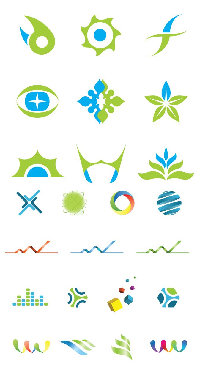 創意圖案標志矢量素材