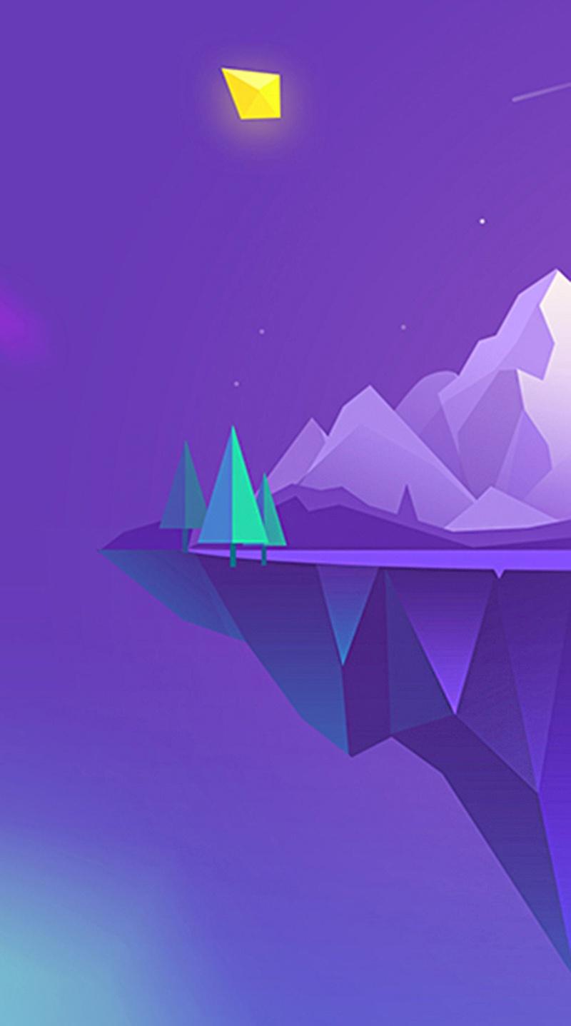 紫色清新H5背景