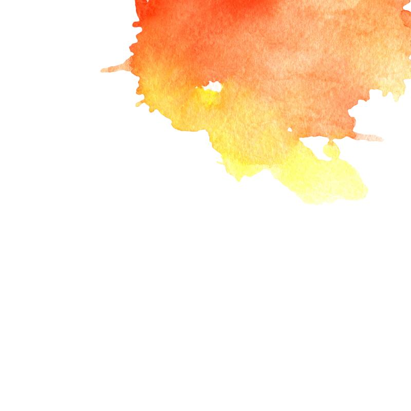 橙色水彩图片